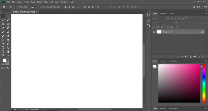 Adobe Photoshop CC 2019 Layout