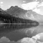 GrayScale Mountain Photo