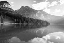 GrayScale Mountain Photo