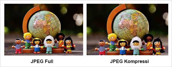 JPEG Full VS JPEG Kompressi
