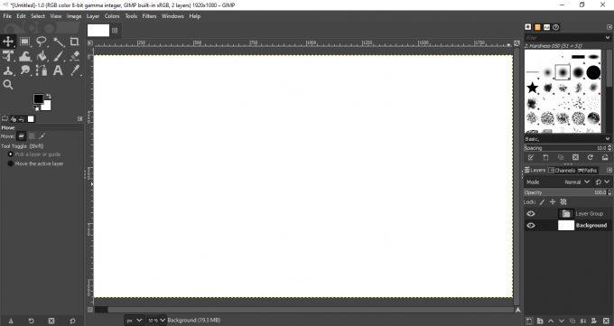 Layout GIMP 2.10