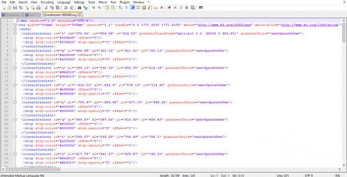 Mushroom SVG Teks Editor