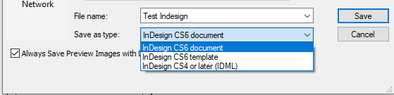 Format file indd/idml Indesign