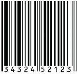 Barcode/kode batang UPC-A